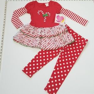 NWT Super Pretty Christmas Outfit Matching Set